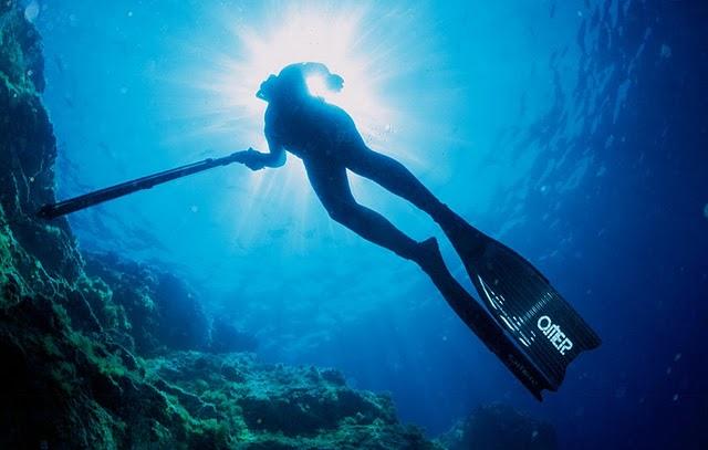 maschera per pesca subacquea